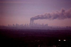 wtc towers burning